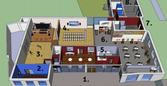 Gnome House Floor Plan Side