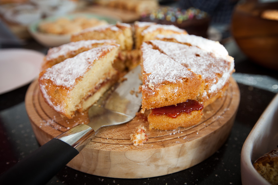 Cakes were baked all over the neighbourhood and sold in the cafe