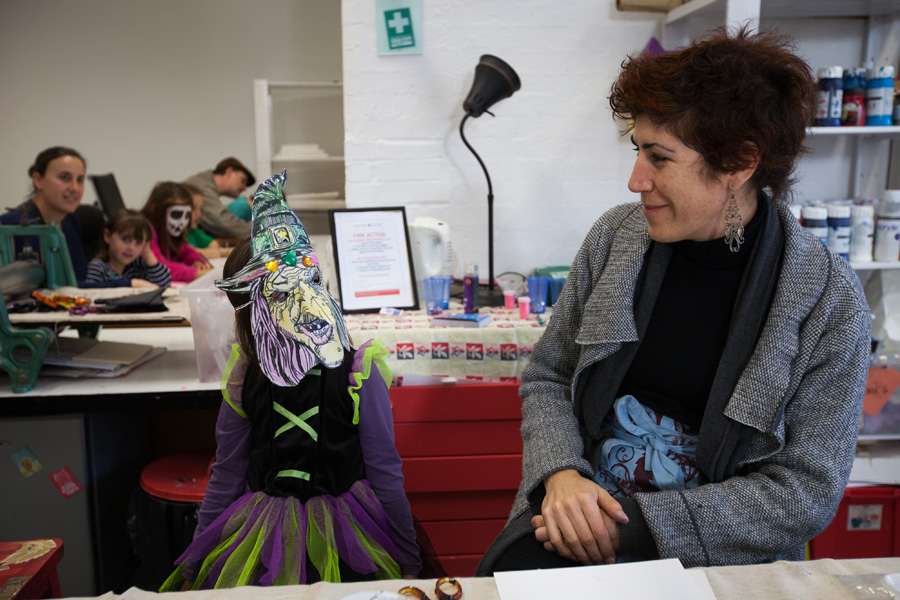 There was Halloween mask-making at Inky Cuttlefish Studios