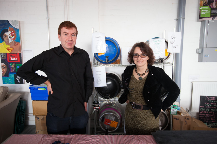 Simon and Gaba from E17's very own Left Bank brewery provided a range of fantastic, local ales