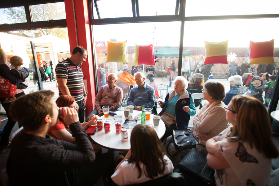 Families and neighbours had chance to chat and spend time together