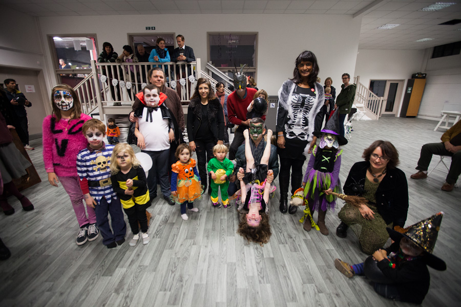 The entrants for the fancy-dress competition - with everyone winning a prize!